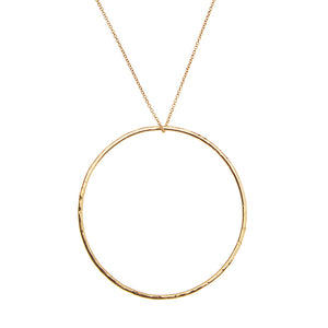 Big Circle Necklace 14k