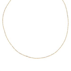 Beaded Station 14k Gold Chain Necklace