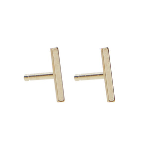 Staple Stud 14k