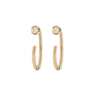 Diamond Tiny Huggie 14k Earring