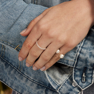 Pearl Open 14k Ring
