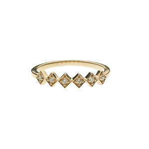 Diamond 6 Stone Stacking 14k Ring