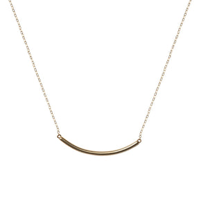 Bar Necklace 14k
