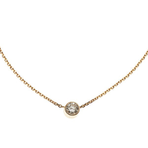 Diamond Solitaire 14k Gold Necklace