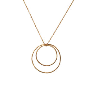 Circles Necklace 14k