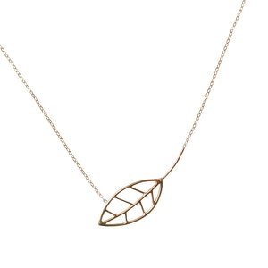 Leaf Asymmetric 14k Necklace
