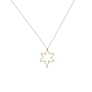 Star Lotus Diamond Necklace