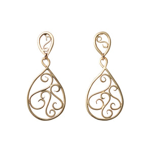 Filigree Double Drop Earrings