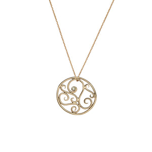 Lucky Charm Diamond 14k Necklace
