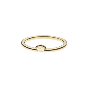 Marquis Diamond Stacking 14k Ring