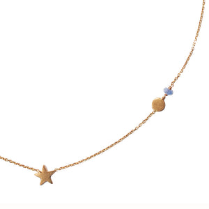 Star and Moon Sapphire Necklace