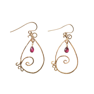 Oceanic Swirl Earrings 14k