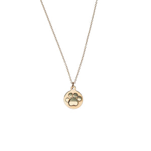 Dog Paw 14k Necklace