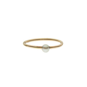 Pearl Stacking 14k Ring