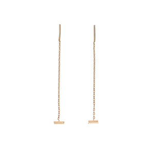 Bar Threader 14k Earring