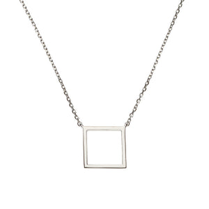Square Silver Necklace