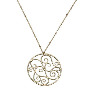 Lucky Filigree Charm XL 14k Necklace