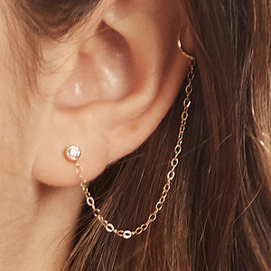 Diamond Chain Ear Cuff