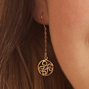 Lucky Charm Filigree Drop 14k Earrings