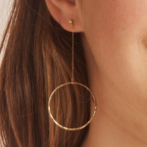 Circle Drop Stud Earrings
