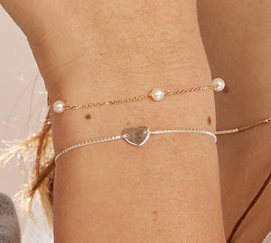 Heart Charm Adjustable Bracelet