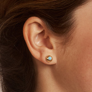 Turquoise Domed Stud