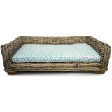 Barkley & Bella - Wicker Lounge COVER ONLY - MARRAKESH STEEL BLUE /GREY - Furevables Pet Boutique