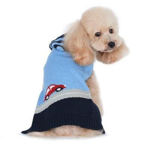 PP Blue Car Dog Coat Sweater - Furevables Pet Boutique