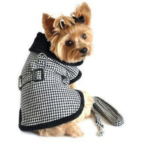 Hounds Tooth Dog Coat - Furevables Pet Boutique