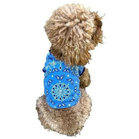 Furevables Pet Boutique - Bandana Tee - Blue