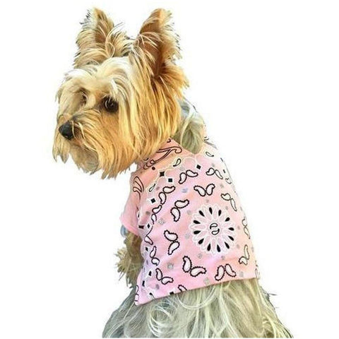 Furevables Pet Boutique - Bandana Tee - Pink