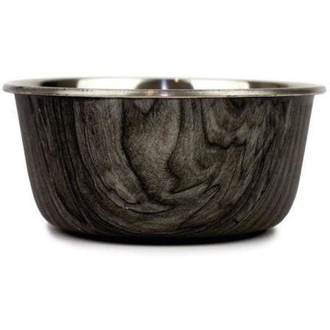 Timber and Stainless Steel Food Bowls - Furevables Pet Boutique