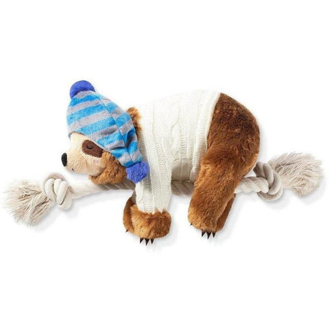 Beanie Sweater Sloth Plush Dog Toy - Furevables Pet Boutique