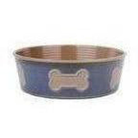 Barkley and Bella Bone Dog Bowl - Indigo