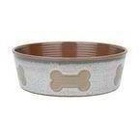 Barkley and Bella Bone Dog Bowl - Natural