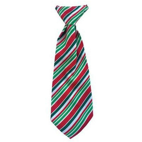 Copy of Christmas Holiday Long Tie- Candy Cane - Furevables Pet Boutique