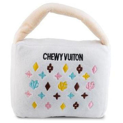 White Chewy Vuiton Handbag - Furevables Pet Boutique