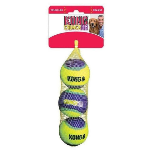KONG Crunch-Air Balls - 3 PACK Medium - Furevables Pet Boutique
