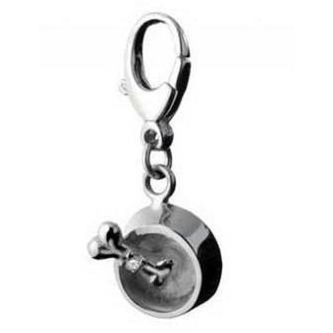 Dog Bowl and Bone Collar Charm - Furevables Pet Boutique