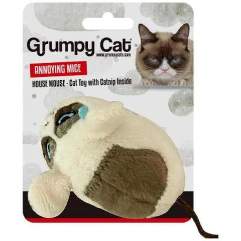 Grumpy Cat Plush Toy - Mouse - Furevables Pet Boutique