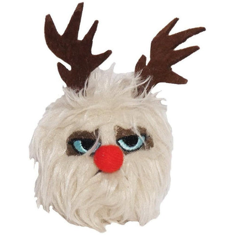 Grumpy Cat Dog Reindeer Plush Toy - Furevables Pet Boutique