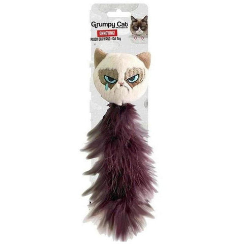 Grumpy Cat Plush Toy - Feather Tail - Furevables Pet Boutique