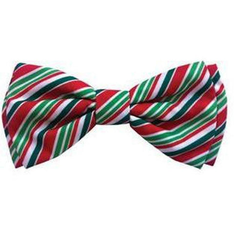 Christmas Holiday Bowtie - Candy Cane - Furevables Pet Boutique
