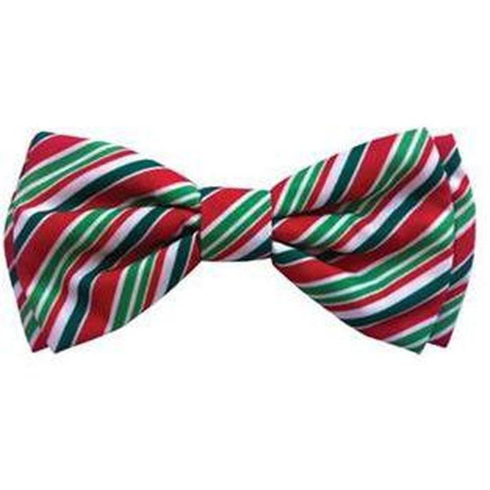 Fuevables Pet Boutique - Christmas Holiday Bowtie - Candy Cane
