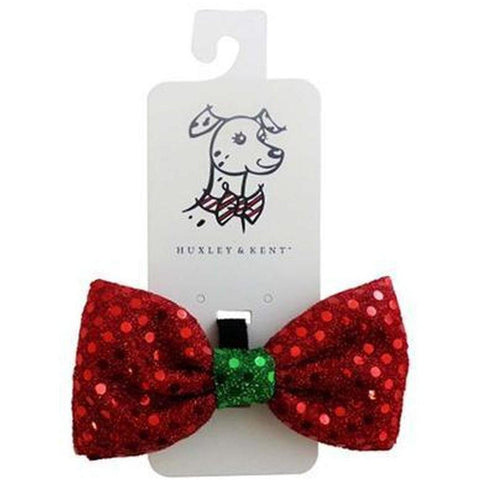 Christmas Holiday Bowtie - Sparkles - Furevables Pet Boutique