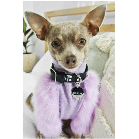 Lilac Faux Fur Jumpers - Furevables Pet Boutique