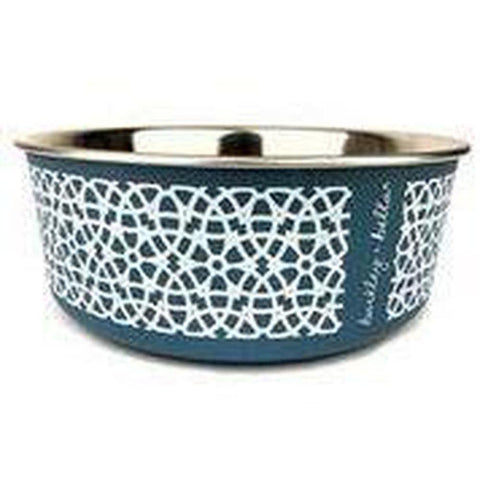 Marrakesh Pet Bowl - Grey Blue - Furevables Pet Boutique