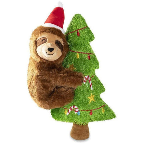Merry Slothmas Plush Dog Toy - Furevables Pet Boutique