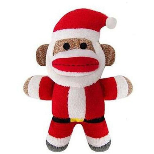 Furevables Pet Boutique - Monkey Jolly Santa Dog Toy
