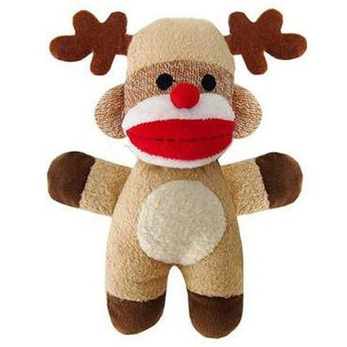 Furevables Pet Boutique - Monkey Reindeer Jingle Dog Toy